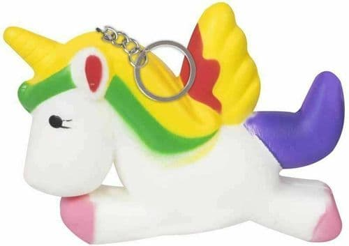 Keyring Pony Unicorn Scented Slow Rising Squeeze Toy Party Bag Filler Vanilla